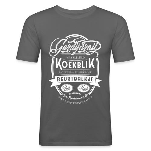Koekblik - Mannen slim fit T-shirt