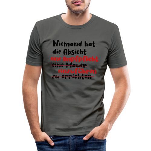 Gute Absichten - Impfpflicht - Männer Slim Fit T-Shirt
