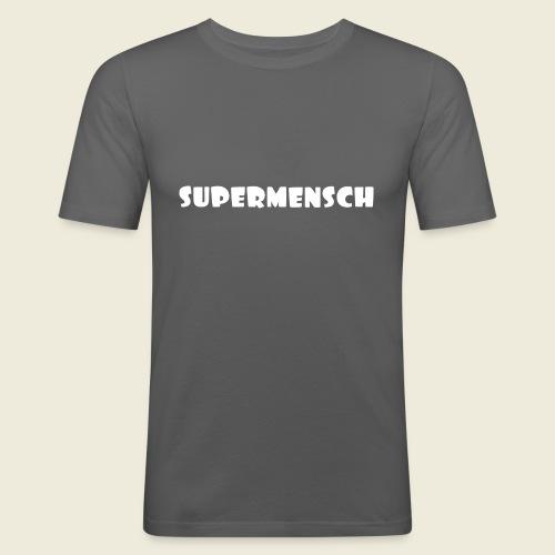 Supermensch in weiß 2 - Männer Slim Fit T-Shirt