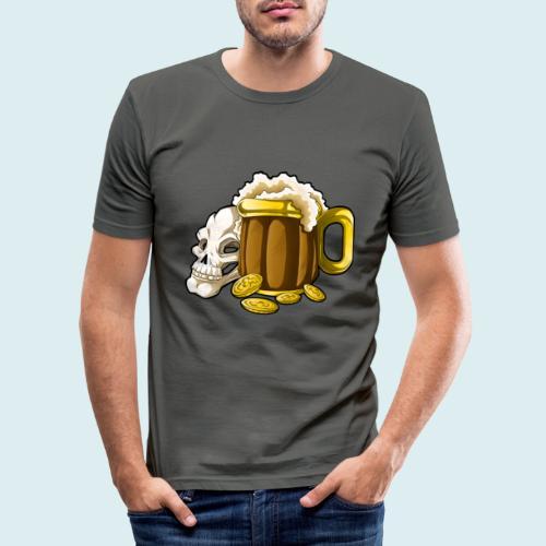 beer - Maglietta aderente da uomo