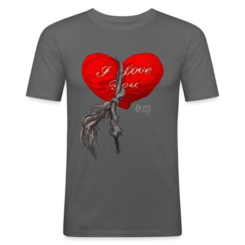 Heart - Obcisła koszulka męska