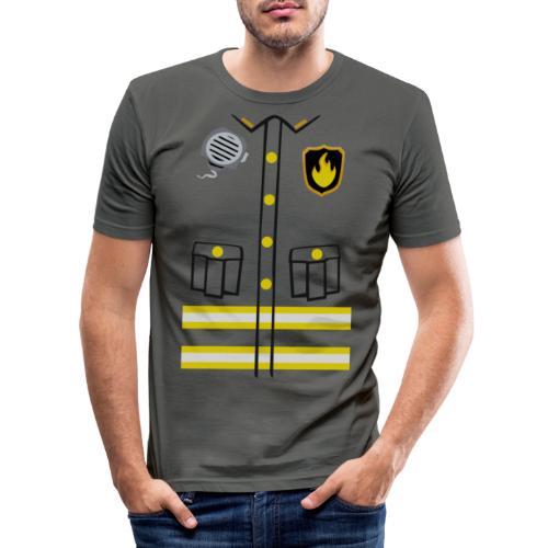 Firefighter Costume - Men's Slim Fit T-Shirt