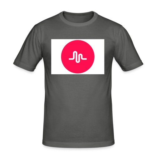 musical.ly - Slim Fit T-skjorte for menn