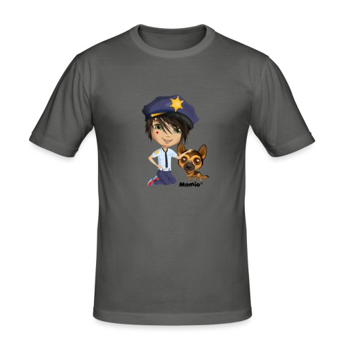 Jack and Dog - autorstwa Momio Designer Cat9999 - Obcisła koszulka męska