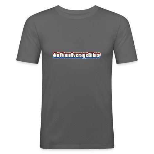 NotYourAverageBiker Hoodie SmallWhite FRONT logo - Mannen slim fit T-shirt