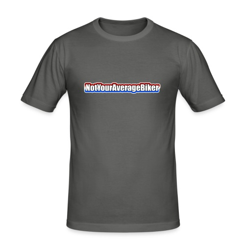 NotYourAverageBiker Hoodie SmallWhite FRONT logo - slim fit T-shirt