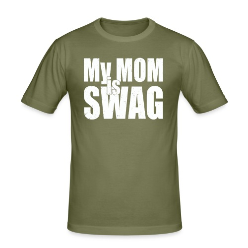 Swag White - Mannen slim fit T-shirt