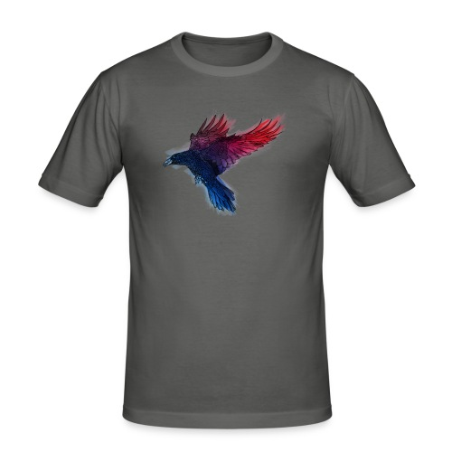 Watercolor Raven - Männer Slim Fit T-Shirt
