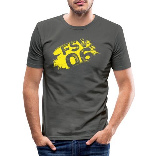 Hildburghausen FSV 06 Graffiti gelb - Männer Slim Fit T-Shirt