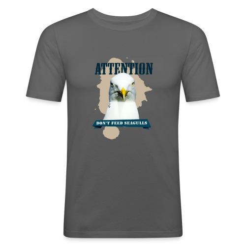 ATTENTION - don't feed seagulls - Männer Slim Fit T-Shirt