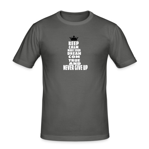 never_give_up - Mannen slim fit T-shirt