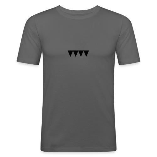V i e r s c h w a r z e D r e i e c k e - Männer Slim Fit T-Shirt