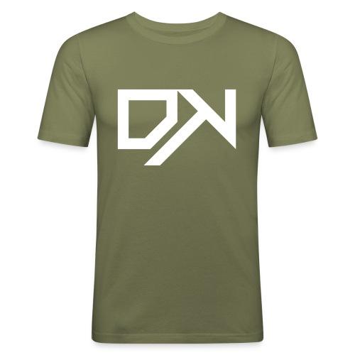 DewKee Logo Cap White - Men's Slim Fit T-Shirt