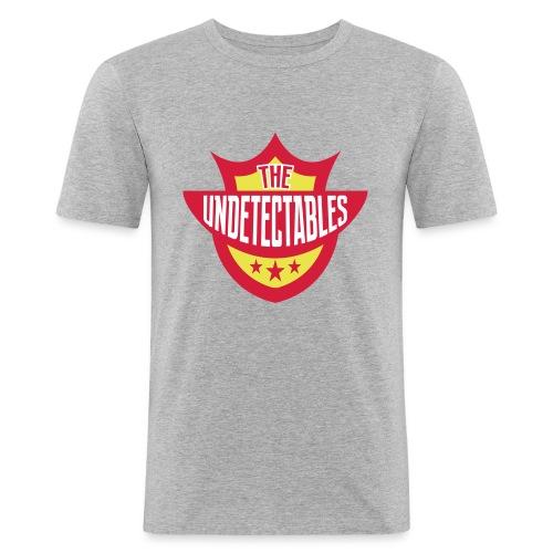 Undetectables voorkant - Mannen slim fit T-shirt