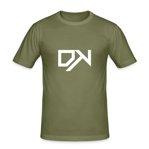DewKee Logo Shirt Black - Men's Slim Fit T-Shirt