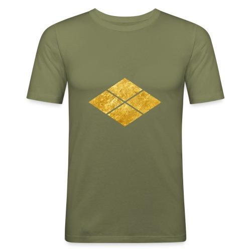 Takeda kamon Japanese samurai clan faux gold - Men's Slim Fit T-Shirt