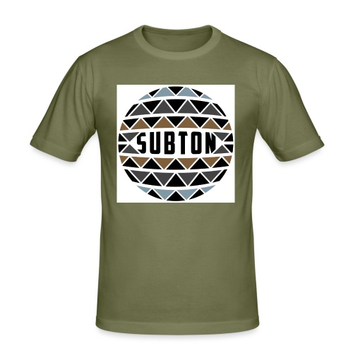wereldbol_subton2-jpg - Men's Slim Fit T-Shirt
