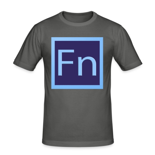 zaino con logo di falsonome - Maglietta aderente da uomo