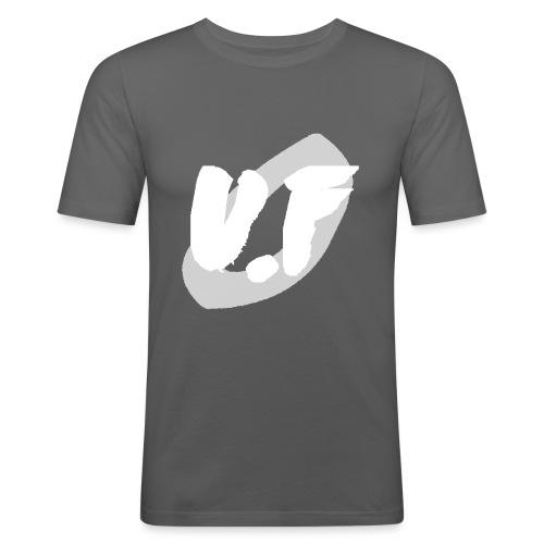 camiseta pico logo UF blanco - Camiseta ajustada hombre