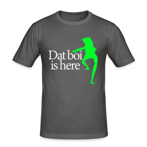 Dat boi shirt white writing - men - Men's Slim Fit T-Shirt