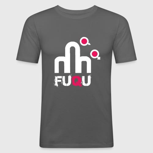T-shirt FUQU logo colore bianco - Maglietta aderente da uomo