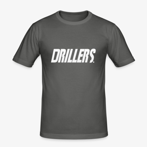 Drillers | White Text - Men's Slim Fit T-Shirt