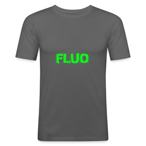 FLUO_trasparente - Maglietta aderente da uomo