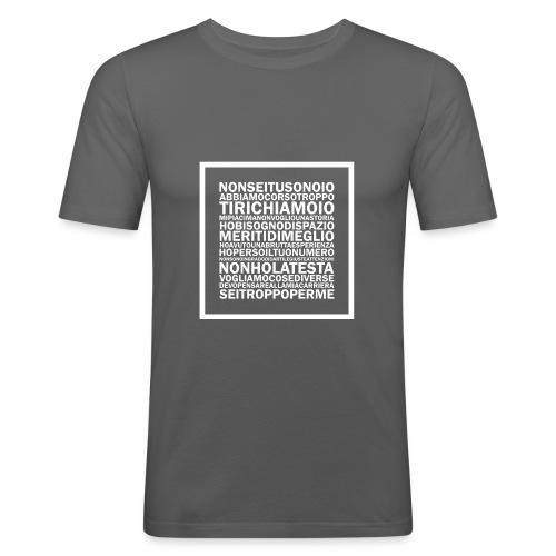 TUTTESCUSE - Maglietta aderente da uomo