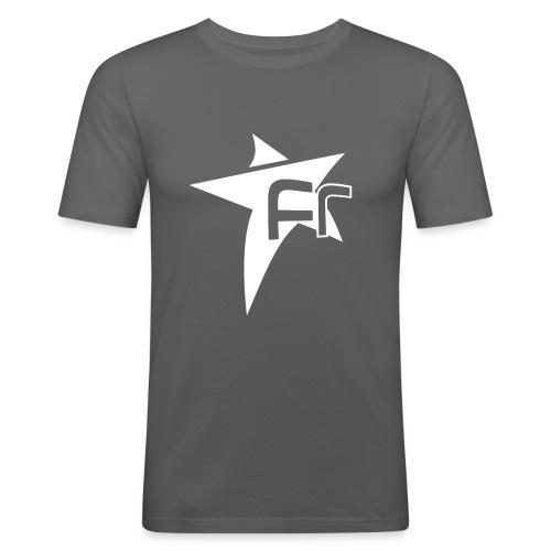 logoFR blanc - T-shirt près du corps Homme