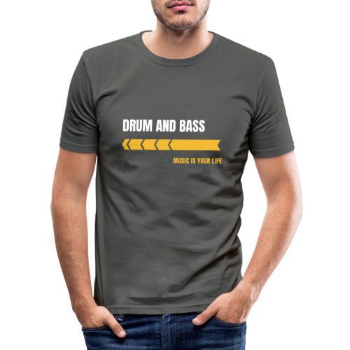 Drum & Bass - Maglietta aderente da uomo
