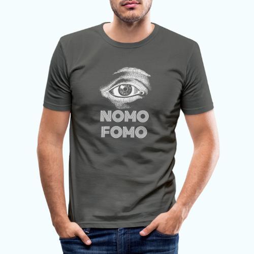NOMO FOMO - Men's Slim Fit T-Shirt