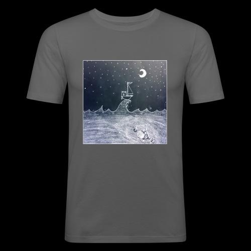 Saling Jade - Night Waves - Slim Fit T-shirt herr