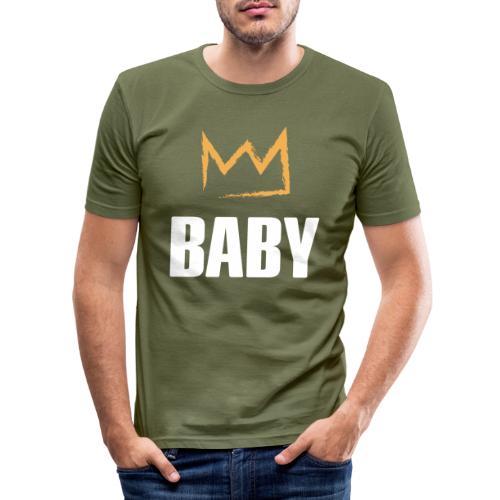 Baby mit Krone - Männer Slim Fit T-Shirt