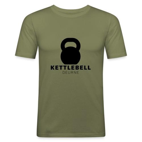 Kettlebell Deurne Logo Zwart - Mannen slim fit T-shirt