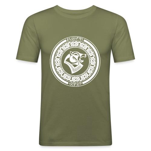BjörnfellRisingWhite - Miesten tyköistuva t-paita