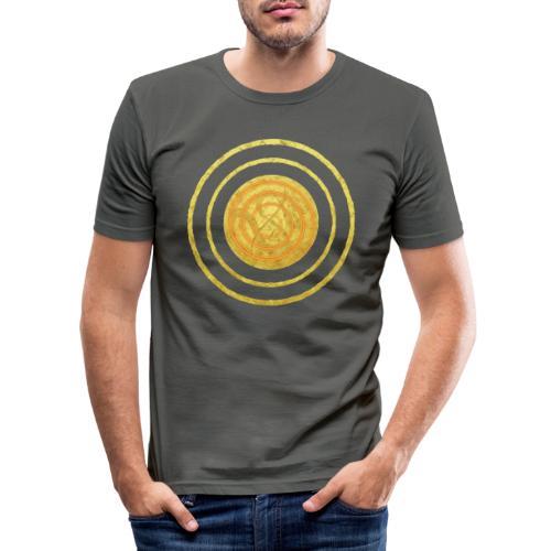 Glückssymbol Sonne - positive Schwingung - Spirale - Männer Slim Fit T-Shirt