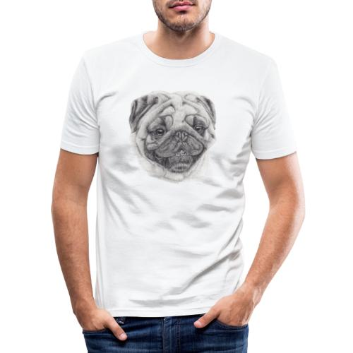 Pug mops 2 - Herre Slim Fit T-Shirt