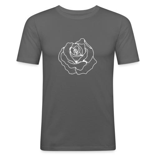 Female Exclusive Rose Dot White V-Neck T-Shirt - Men's Slim Fit T-Shirt