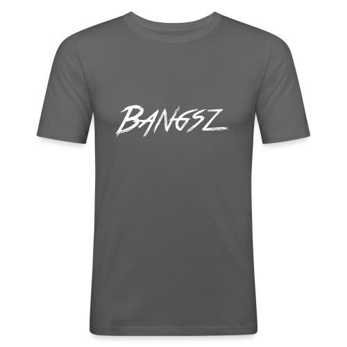 Bangsz Sweater- White print - Mannen slim fit T-shirt