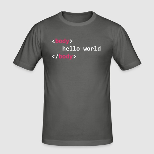 hello-world-png - Men's Slim Fit T-Shirt