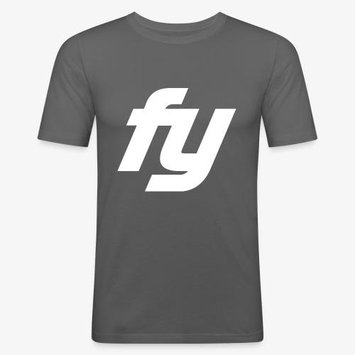 Logo Trendy Weiss - Männer Slim Fit T-Shirt
