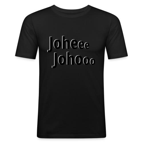 Premium T-Shirt Johee Johoo - Mannen slim fit T-shirt