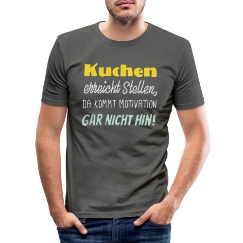 Kuchen die beste Motivation - Männer Slim Fit T-Shirt