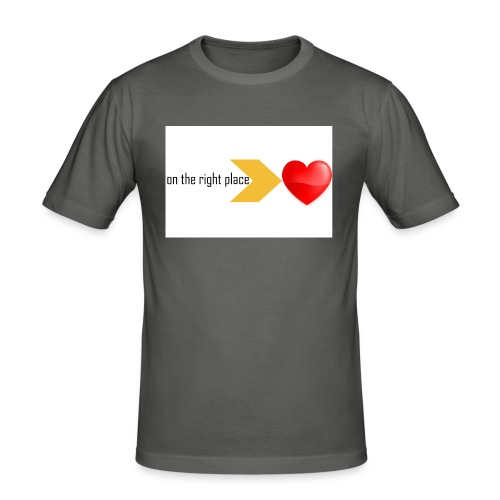 Heart on the right place - Mannen slim fit T-shirt