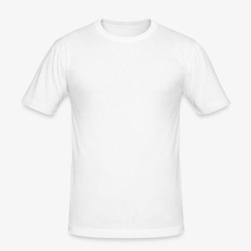Quermast V2 Weiß - Männer Slim Fit T-Shirt