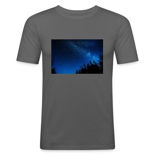 sterrenhemel afdruk/print - Mannen slim fit T-shirt