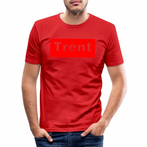 TRENT classic red block - Men's Slim Fit T-Shirt