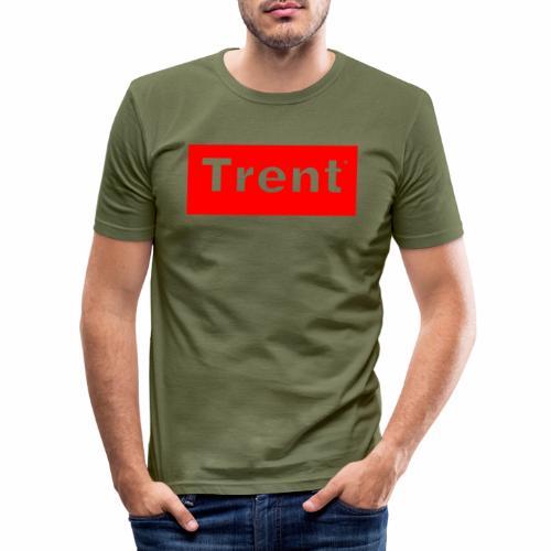 TRENT classic red block - Men's Slim Fit T-Shirt