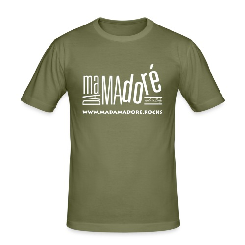 T-Shirt - Donna - Logo Bianco + Sito - Maglietta aderente da uomo