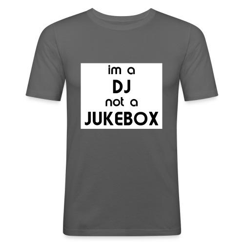 dj_jukebox - Slim Fit T-skjorte for menn